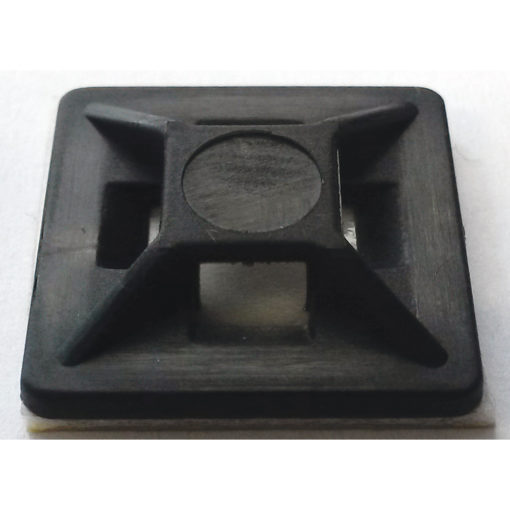 ISL 19x19mm Cable Tie Mounting Base - Black - 100pk