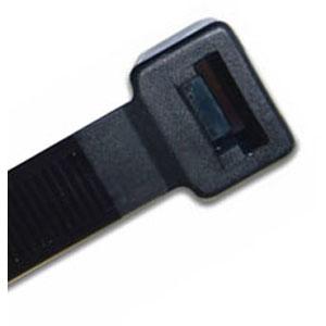 ISL 380 X 7.6MM UV NYLON CABLE TIE - BLK. - 100PK