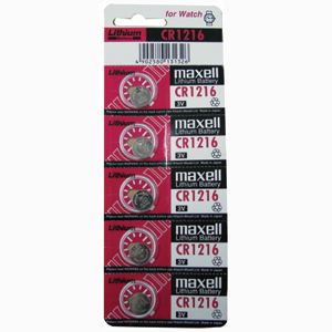 3V LITHIUM COIN CELL BATTERY (12.5MM X 1.6MM) - 5PK