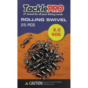 TacklePRO Rolling Swivel 8.0kg - 25pc